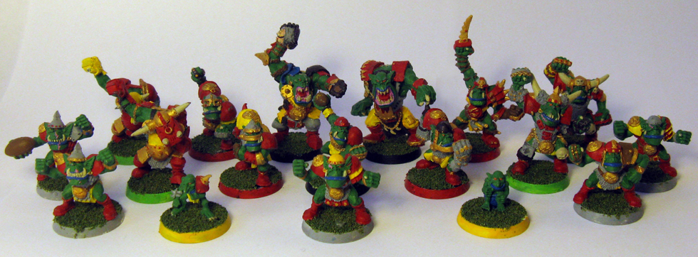 My Collection Of Blood Bowl Miniatures